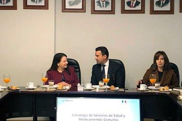 Reunión con los integrantes de la Comisión de Salud del Consejo Coordinador Empresarial