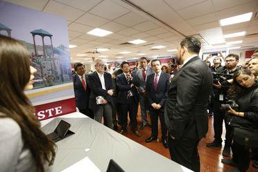 Nuestro Vocal Ejecutivo, explicó al Secretario de Hacienda y Crédito Público, Carlos Manuel Urzúa Macías, los avances del Fovissste