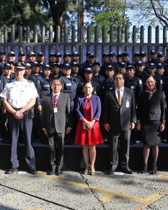 Ceremonia de graduación y entrega de reconocimientos a 142 nuevos policías del SPF