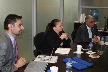 En reunión de trabajo, la Comisionada Nacional con representantes de la Organización Panamericana de Salud, y de la Secretaría de Salud