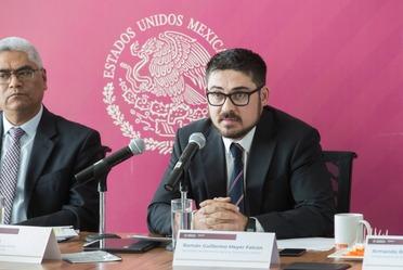 Román Meyer Falcón, Secretario de Desarrollo Agrario, Territorial y Urbano, encabezó un encuentro con medios de comunicación.