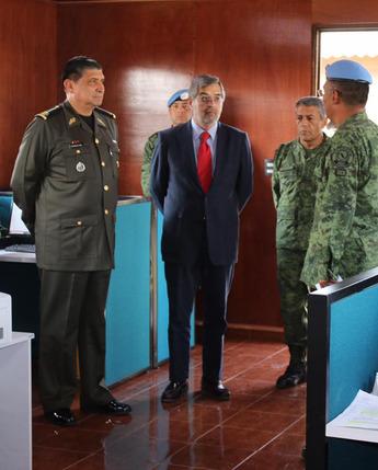 Visita del embajador representante permanente de México ante la O.N.U., al centro de entrenamiento conjunto de operaciones de paz de México