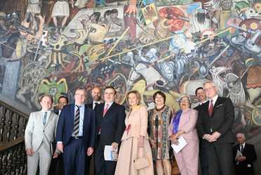 El Gobierno de México recibe a una amplia delegación de Bélgica encabezada por la princesa Astrid