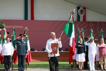 Discurso del presidente en el día de la bandera