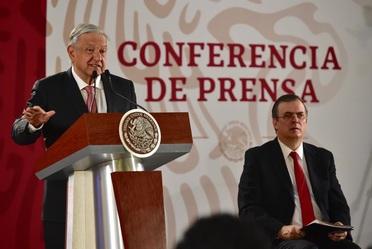 Conferencia de prensa matutina en Palacio Nacional