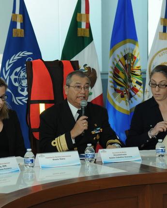 La Secretaría de Marina, como Autoridad Marítima Nacional, participa en reunión de trabajo con el CICTE-OEA