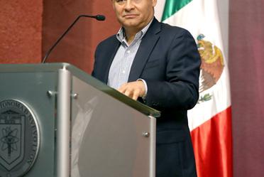 El Subsecretario en discurso durante el Foro estatal de participación y consulta del Plan Nacional de Desarrollo 2019-2024, en Monterrey, Nuevo León