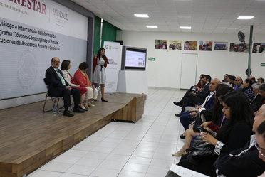 Presentación del Programa Jóvenes Construyendo el Futuro a Instituciones de Asistencia Privada de la Ciudad de México