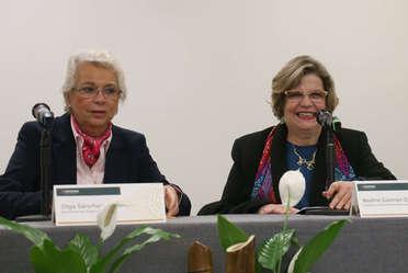 Olga Sánchez Cordero y Nadine Gasman