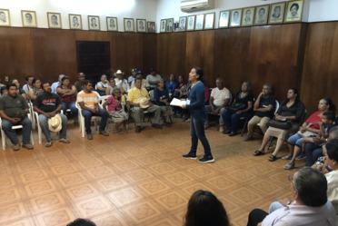 Taller de capacitación a beneficiarios del Programa de Nacional de Reconstrucción en Tecuala, Nayarit.