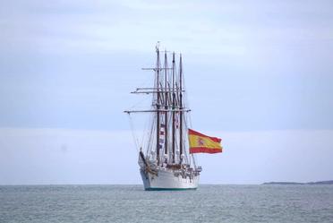 """Arribó del Buque Escuela """"Juan Sebastián de Elcano""""al Puerto de Veracruz."""