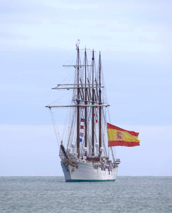 """Arribó del Buque Escuela """"Juan Sebastián de Elcano"""" al Puerto de Veracruz."""