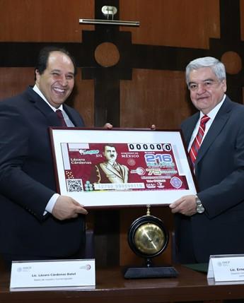 LOTENAL reconoce en la figura de Lázaro Cárdenas del Río un gobierno sensible a las demandas del pueblo mexicano