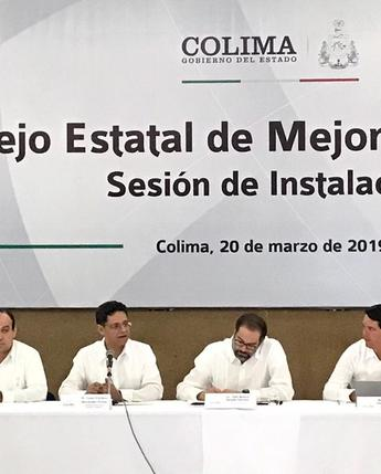 Instalación del Consejo Estatal de Mejora Regulatoria de Colima