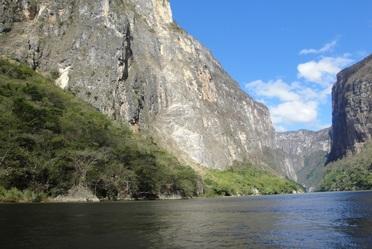 Cañón del Sumidero en Chiapas.