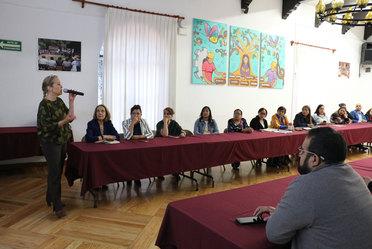 Fotografía de reunión de mesas de análisis para revisión de Programas Anuales de las Instancias de Mujeres en las Entidades Federativas