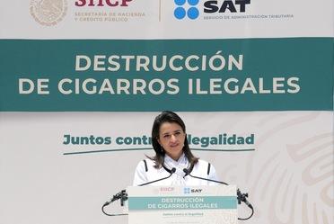 Destruye el SAT más de 9 millones de cigarros ilegales