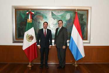 Visita del primer ministro de Luxemburgo, Xavier Bettel