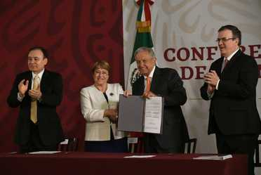 La SRE y la Oficina de la Alta Comisionada para los Derechos Humanos, firmaron acuerdo de cooperación en materia de la Guardia Nacional