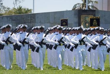 Ceremonia de Jura de Bandera de los Cadetes de la Heroica Escuela Naval Militar.