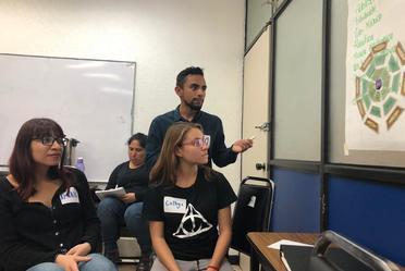 """Fotografía de estudiantes de la UNAM en el Taller """"Hablemos de Derechos Humanos e Igualdad de Género"""""""