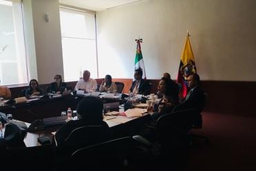 Reunión con Ministra de Salud de Ecuador