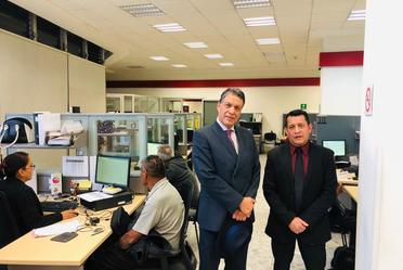 El vocal ejecutivo de PENSIONISSSTE visita Centro de Atención en Buenavista