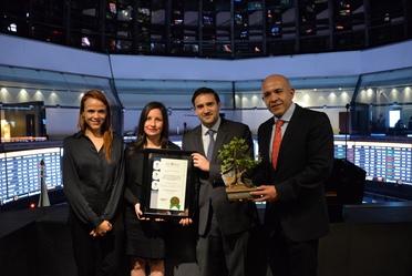 Entre los eventos de la Semana de Financiamiento Sustentable, Banobras fue reconocido por ser el emisor con el mayor monto en circulación de bonos sustentables en México.