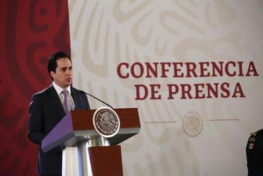 El Director General de Banobras, Jorge Mendoza Sánchez, participó en la Conferencia de Prensa del Presidente de México, Andrés Manuel López Obrador