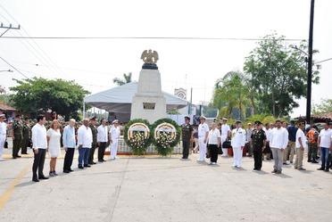 Personal Naval participa en la conmemoración del CLVI Aniversario de la Batalla de Camarón