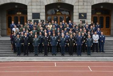 """""""Clase 58"""" del Colegio Interamericano de Defensa, durante la Conferencia de Liderazgo Estratégico."""