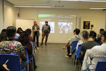 Fotografía el Indesol, en coordinación con el Museo Memoria y Tolerancia imparten el curso sobre la Historia del Movimiento LGBTI