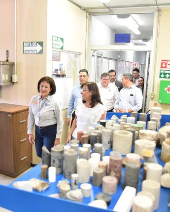 La Secretaria de Energía, Ing. Rocío Nahle, visita el INEEL y reconoce sus capacidades