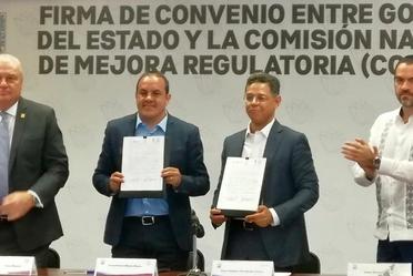 Firma Convenio con Morelos