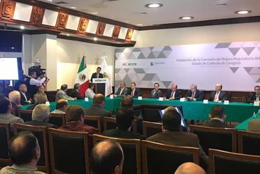 Instalación de la Comisión de Mejora Regulatoria del estado de Coahuila.