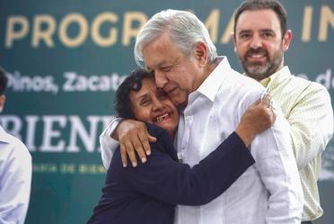 El presidente de México, Andrés Manuel López Obrador, desde Pinos, Zacatecas.