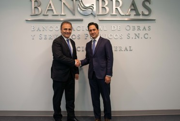 El Director General de Banobras, Jorge Mendoza Sánchez, se reunió con Ricardo Merlo, Subsecretario de Asuntos Exteriores y Cooperación Internacional de Italia