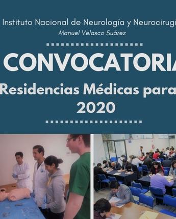 convocatorias a Residencia Medicas para el 2020