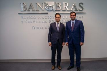 El Director General de Banobras, Jorge Mendoza Sánchez, se reunió con el Gobernador de Nayarit, Antonio Echeverría García, para dialogar sobre las alternativas de colaboración, financiamiento y asistencia técnica.