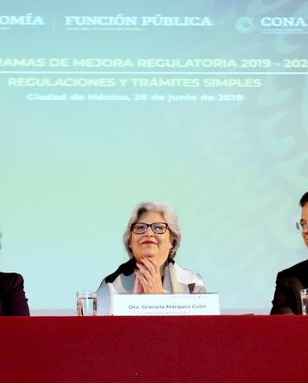 Inauguración de la ceremonia de los Programas de Mejora Regulatoria 2019 - 2020