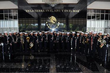 Personal perteneciente a la Orquesta Sinfónica de la Secretaría de Marina - Armada de México