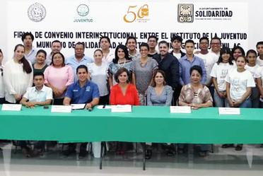 El Instituto de la Juventud del municipio de Solidaridad y CIJ firman convenio de colaboración