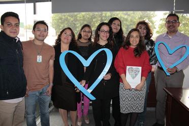 Mujeres y hombres integrantes de la Secretaría General del Consejo Nacional de Población en solidaridad con las acciones por el Día Mundial contra la trata de personas.