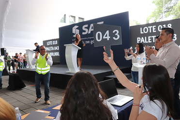 Paleta ganadora Subasta a Martillo