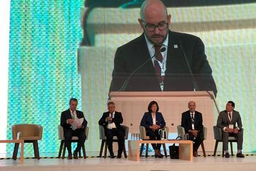 Presentes en el Simposium Internacional de la Energía CANAM 2019. Inaugura Dr. Alberto Montoya Martín del Campo, Subsecretario de Planeación y Transición Energética y el Presidente de CANAME Ing. Hugo Gómez Sierra. #SIEC2019