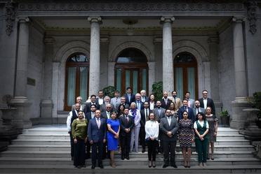 La Secretaria de Gobernación en compañía de las y los Secretarios Técnicos de los Consejos Estatales de Población u Organismos Equivalentes