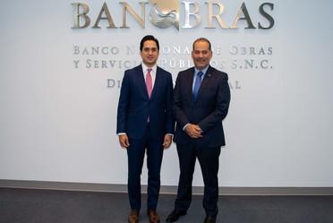 El Director General de Banobras, Jorge Mendoza, se reunió con el Gobernador de Aguascalientes, Martín Orozco, para conversar sobre iniciativas de movilidad en el estado.