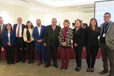Representantes de la Superintendencia de Salud de Chile, distintas organizaciones de Salud en Chile y la Comisión Nacional de Arbitraje Médico de México (CONAMED.
