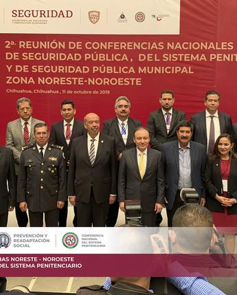 2a Sesión Ordinaria 2019 de la Conferencia Nacional del Sistema Penitenciario Zonas Noreste y Noroeste.