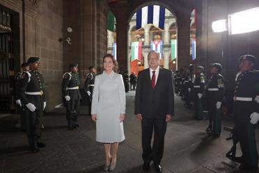 Visita oficial del presidente de Cuba, Miguel Mario Díaz-Canel Bermúdez, desde Palacio Nacional.